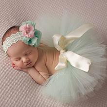 Newborn Tutu Skirt Headband Set,Infant Pettiskirt Photography Props for Birthday,Princess Ruffle Skirt Baby Falda,#A0032(China (Mainland))