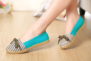 Summer Spring Womens Flats 2015 New Arrival Womens Shoes Stripe Sapatos Femininos Caual Canvas Shoes Women Lazy Zapatos Mujer<br><br>Aliexpress
