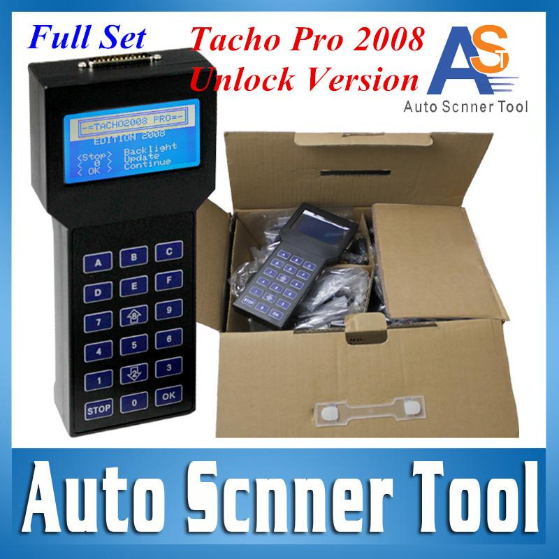 2016 Hot Selling Unlocked Version Odometer Correction Universal Dash Programmer Tacho 2008 Pro Mileage Correction Tool DHL Free(China (Mainland))