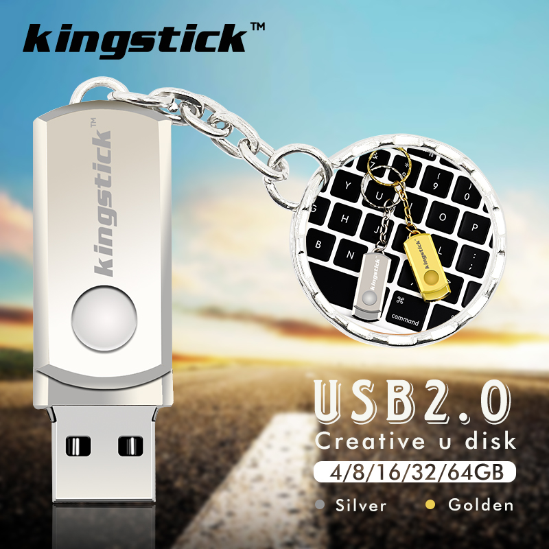 High quality keychain 2.0 USB Flash Drives Silver gold Memory stick 32GB 64GB Metal pen drive rectangle 4GB 8GB 16GB thumbdrive(China (Mainland))