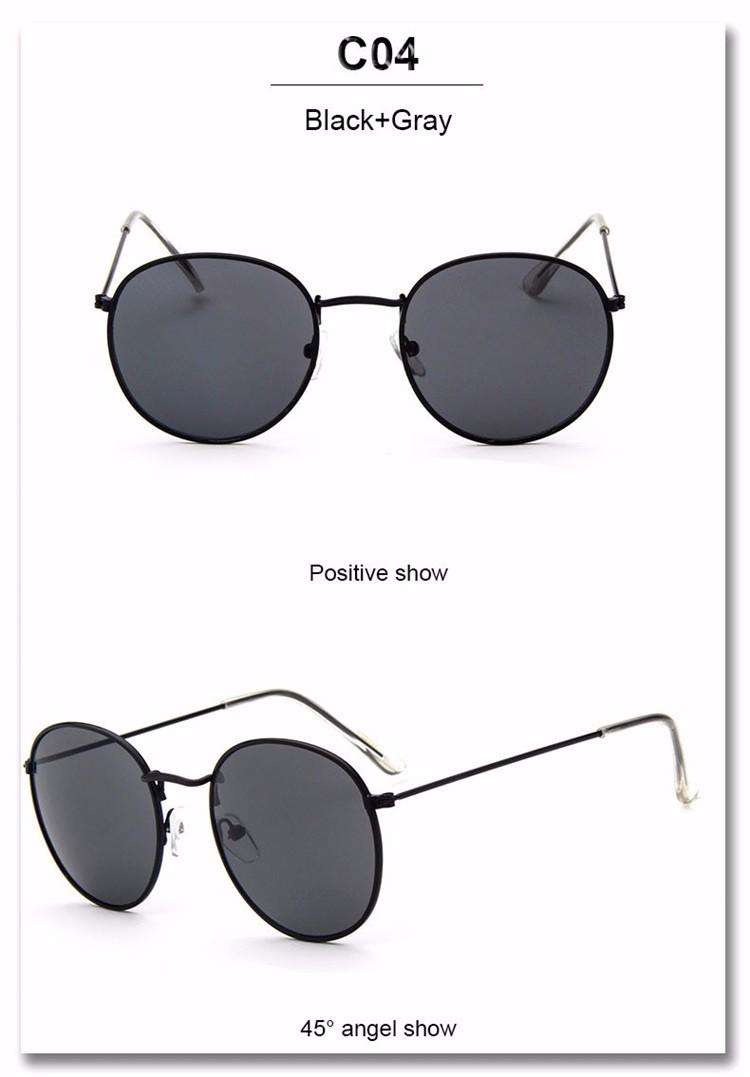 Luxury Brand Design Round Sunglasses Women Men Brand Designer Vintage Retro Mirror Sun Glasses For Women Female Ladies Sunglass (21)