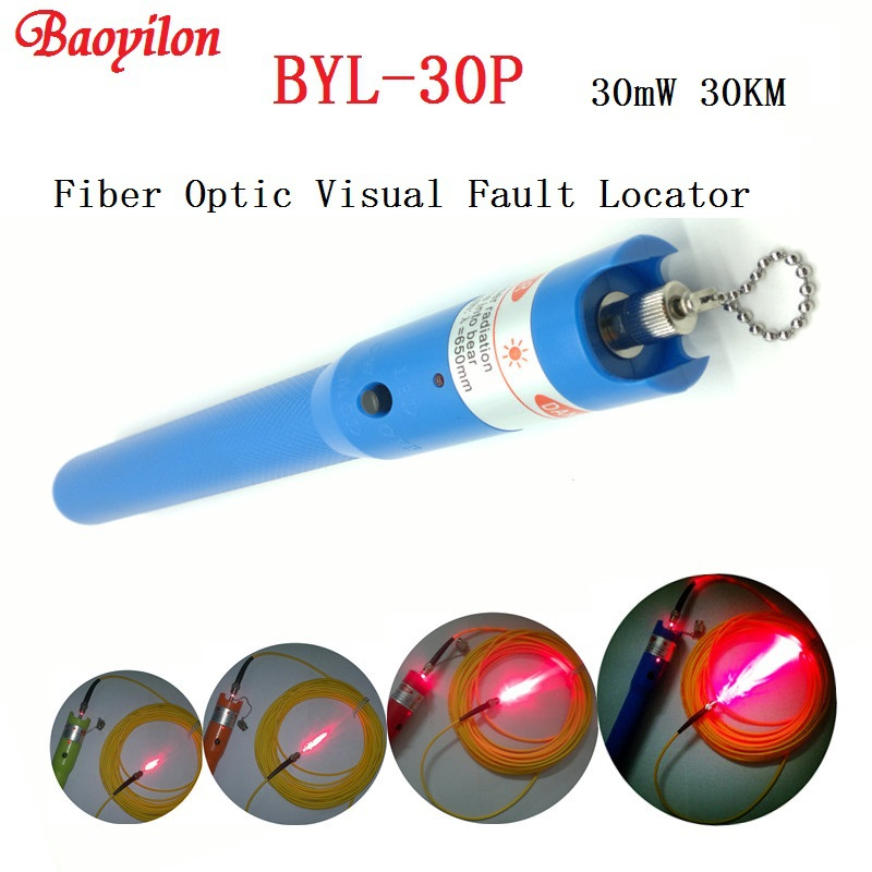 Fiber Fault Locator : Byl p laser pen km fiber optic cable tester baoyilon