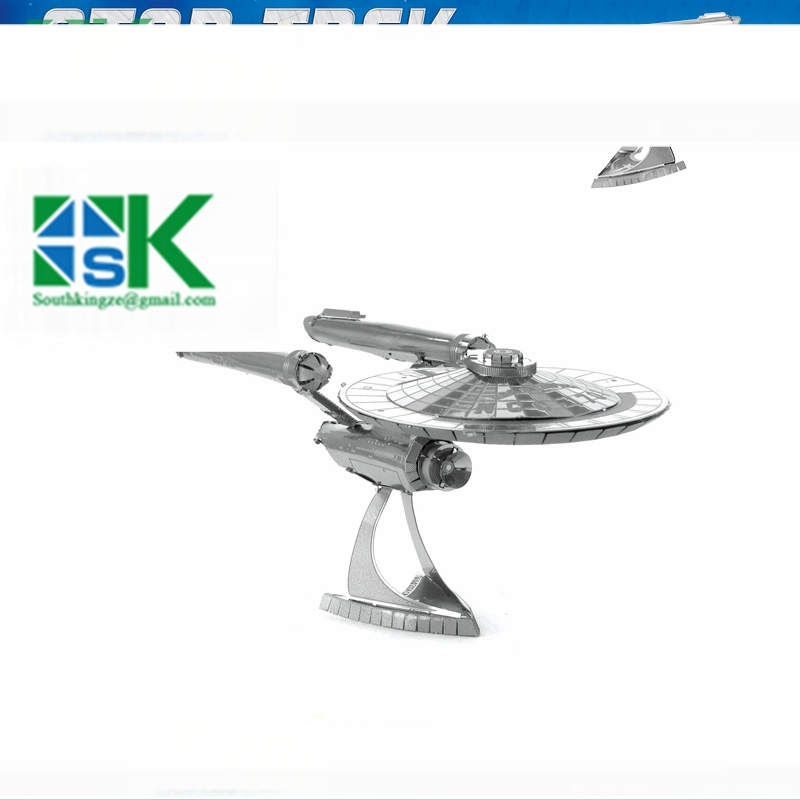 Funny Puzzle Star Trek ENTERPRISE NCC-1701 3D metal puzzle model nano 2 Sheets Wholesale price Stainless steel D(China (Mainland))