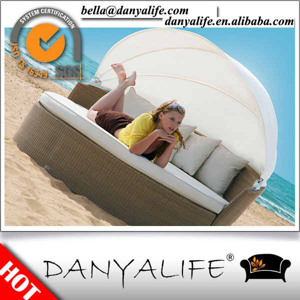 DYBED-D2204 Danyalife Deluxe Villa Furniture PE Rattan Canopy Bed(China (Mainland))