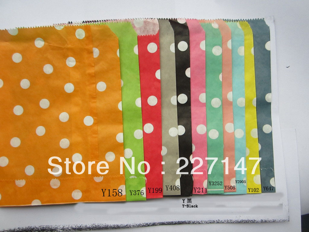 Hot Promotion !Polka Dot Paper Gift Bag, Sweet Candy Bag Wedding Parties 105X7 inch (13 cm X 17.5cm) - Favor Supply store