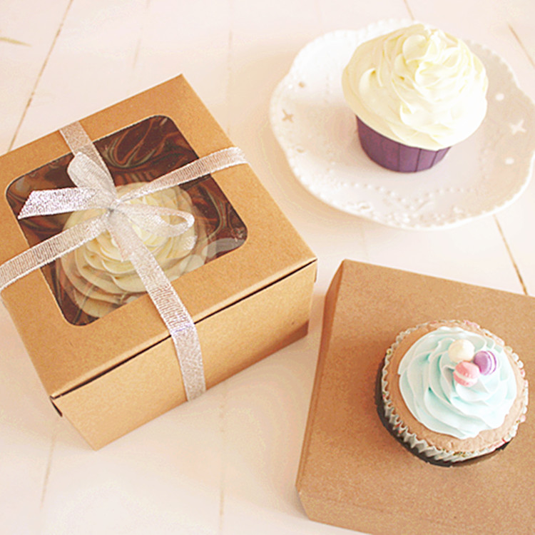 Reviews Of Wedding Gift Lists : Paper Boxes Single Cupcake Kraft Paper Box Gift Packaging For Wedding ...