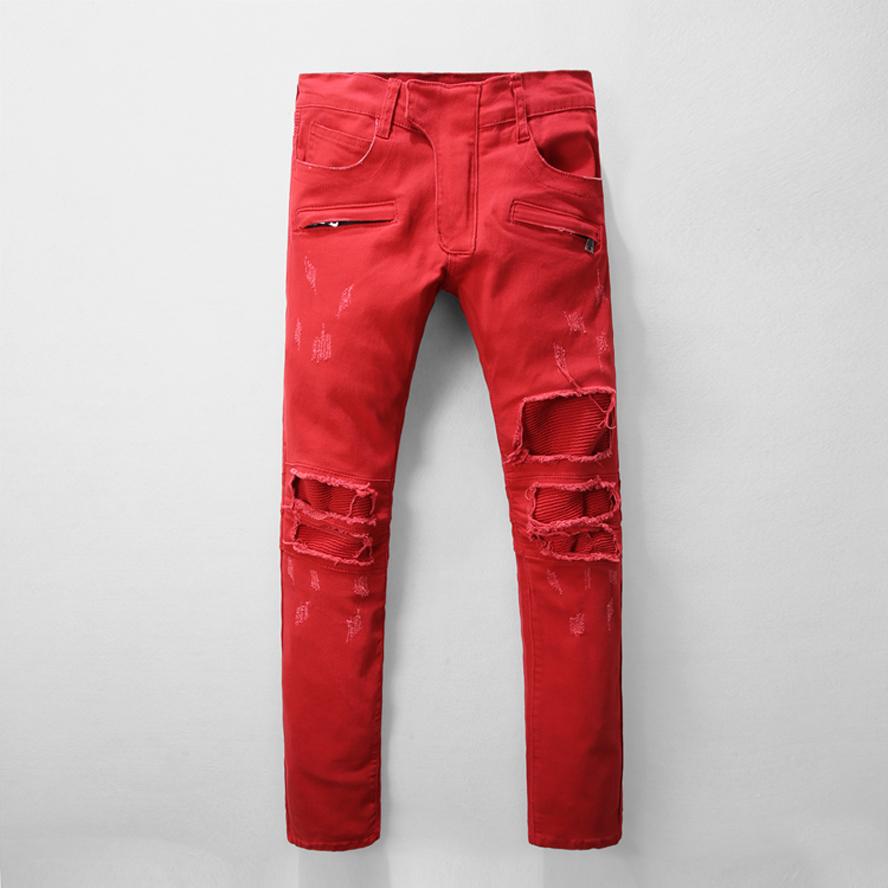 Red Denim Jeans Promotion-Shop for Promotional Red Denim Jeans on ...