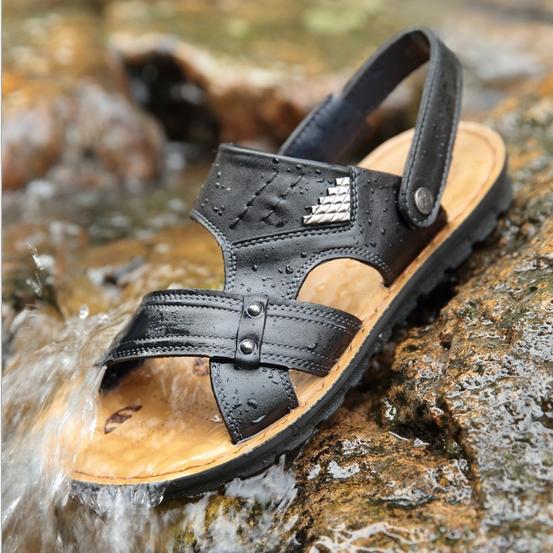 Man summer outdoor sandals, Camping breathe - ultra-light running shoes, outdoor Wading sandals, Men's black / green EUR: 38-44(China (Mainland))