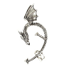 Brilliant quality Vintage Gothic Punk Twine Dragon Shape Ear Cuff Rock Clip Earring for men and women 5CCY(China (Mainland))