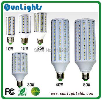 5630 5730 SMD LED corn bulb 7w 10w 12w 15w 25w 30w 40w 50w  lamp E27 E14 B22  LED Corn Light