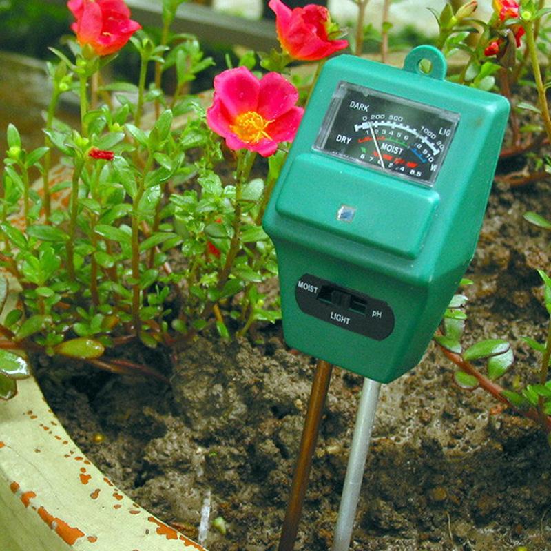 3 in 1 PH Tester Soil Detector Water Fertilizer Moisture Light Test Meter Sensor for Garden Plant Flower Digital Analyzers(China (Mainland))