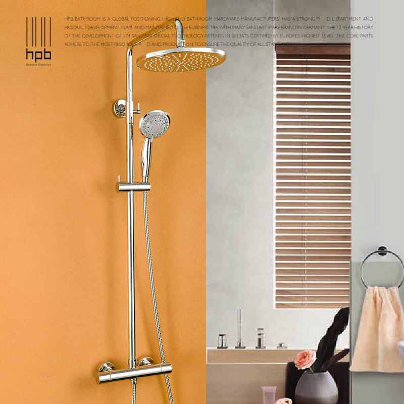 HPB Wholesale Brass Hot And Cold Water Thermostatic Bath Shower Set Faucet HP2101 B(China (Mainland))