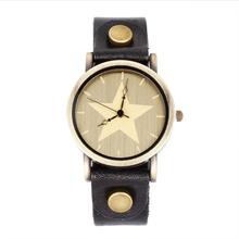 J & M – HOT Vintage para hombre reloj de pulsera de cuero genuino de la vaca del pun ¢ o cinturón ancho de lujo reloj pulsera para hombre reloj hombre