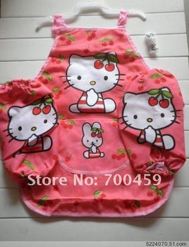 6 Set Children hello kitty Aprons Sleeves Set