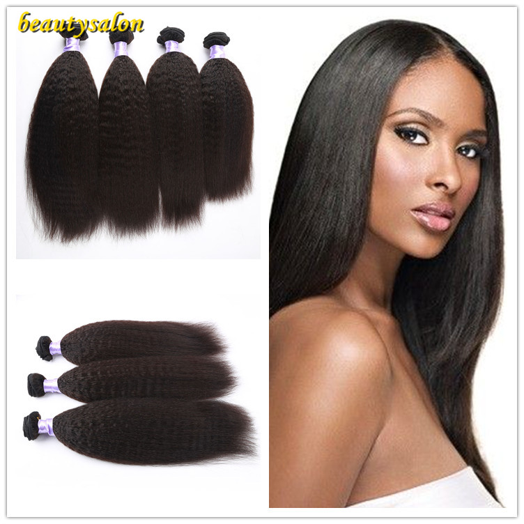 Peruvian Virgin Hair 10-30 Kinky Straight Hair Weave 3pcs/lot Unprocessed Human Hair Extension Free Shipping<br>