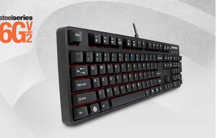 Mechanical Gaming Keyboard Steelseries 6GV2 Anti-ghosting USB Cherry MX Red/Black Switches(China (Mainland))