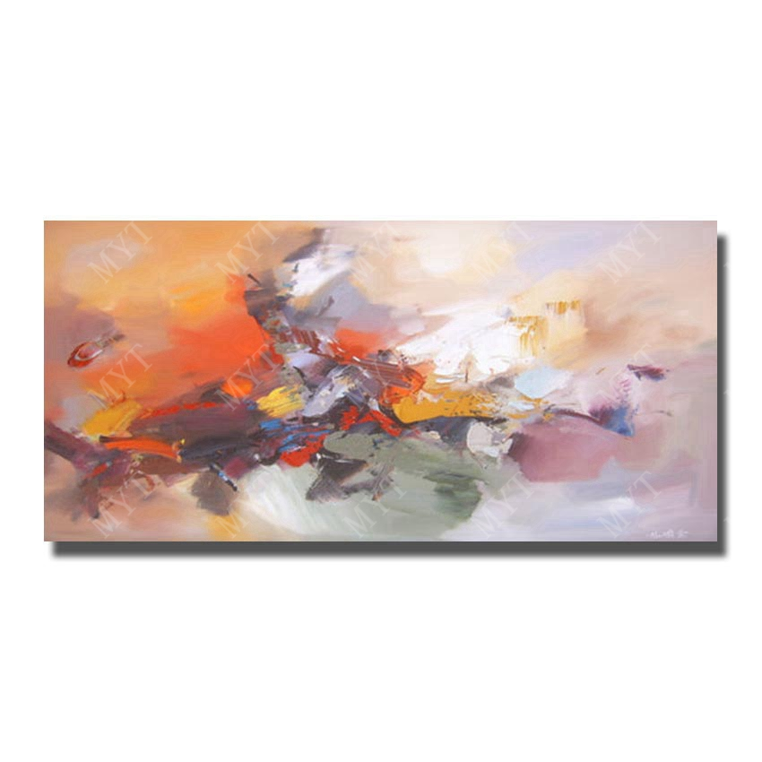 Rectangle shape beautiful painting wall pictures frameless abstract design modern abstract oil painting(China (Mainland))