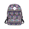 Trendy Chic Durable Canvas Bag Women Colorful Geometric Pattern Print Backpack Fashion Durable Shool Bag Practical