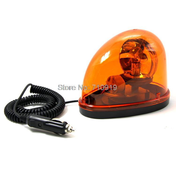 Tirol T12510a New Magnetic Teardrop DC12V Rotate Beacon Amber Warning light Emergency Car Truck Safety Construction FREESHIPPING(China (Mainland))