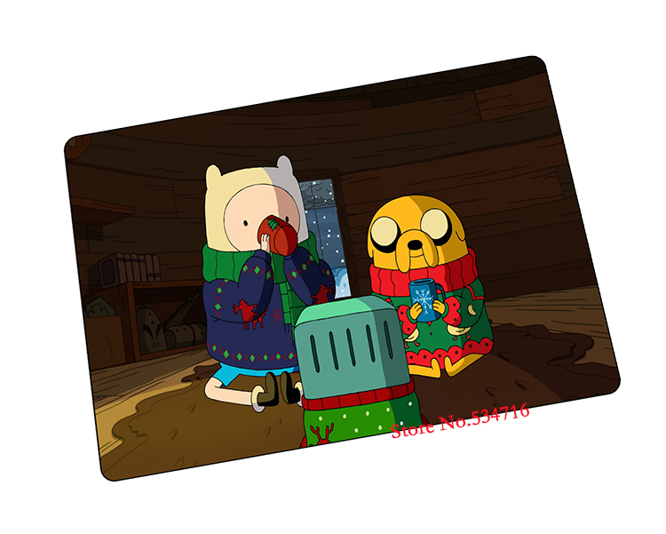 Adventure Time mouse pad Christmas gift game pad to mouse notebook computer mouse mat brand gaming mousepad gamer laptop(China (Mainland))