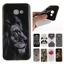 """Buy Cute Animal Phone Back Cover sFor Samsung Galaxy A3 2017 A320 A320F 4.7"""" Coque Soft TPU Silicone Panda Lion Cartoon Vintage Case for $1.26 in AliExpress store"""