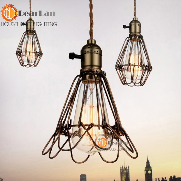 New Classical American Style Retro Pendant Lamp With E27 Edison Bulb Loft Vintage Pendant Light,Antique Pendant Lamps(China (Mainland))