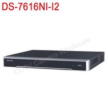 Free shipping DS 7616NI I2 English version 4k NVR 16ch with 2 SATA ports 12MP embedded