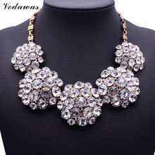 Buy 2017 New Fashion XG116 High Ultra-luxury Necklaces & Pendants Pure Crystal Statement Necklace Crystal Flower Jewelry for $7.00 in AliExpress store
