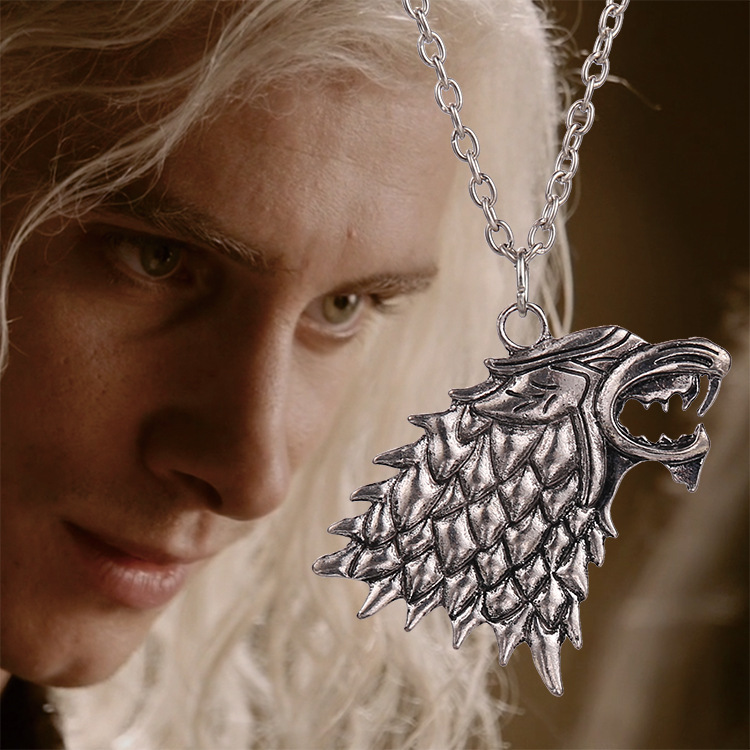 Movie Necklace Of Song Of Ice And Fire Game Of Thrones Stark Wolf Pendant Alloy Metal
