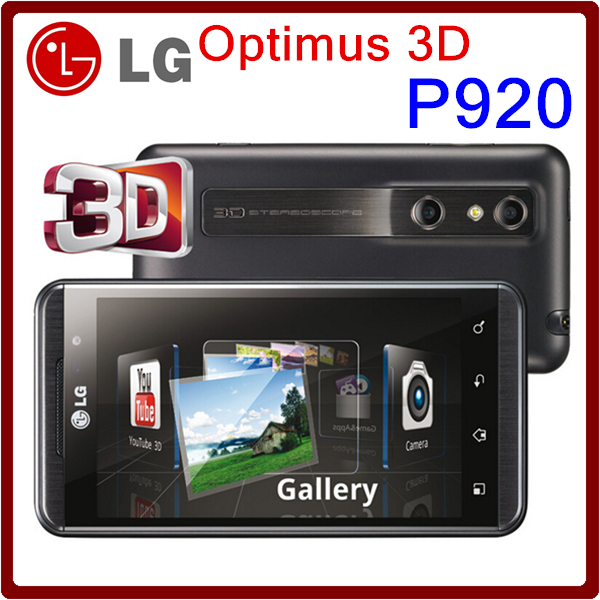 Unlocked Original LG Optimus 3D P920 Cell phone Android Wifi GPS 5MP Camera 4.3'' Screen Cheap Android Smartphone Free Shipping(China (Mainland))