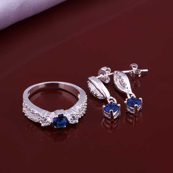 Lose Money!925 Silver Jewelry Sets,Fashion Sterling blue month R+E SMTS640 - Online Store 634514 store