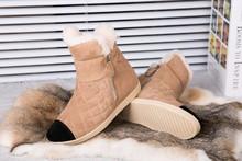 2016 nuevas mujeres Australia botas de nieve clásico botas de invierno cálido para mujer zapatos de cuero size34-40(China (Mainland))