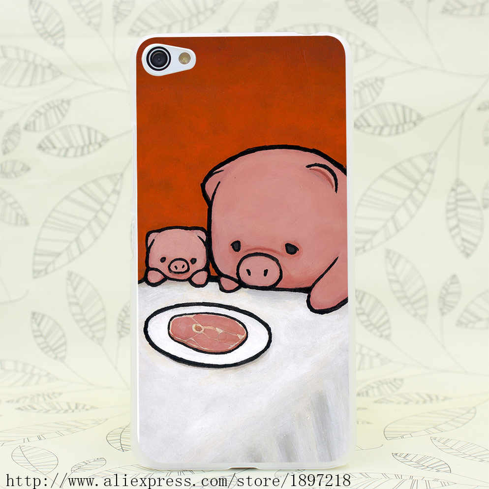 3996T Revenge Is A Dish Pig Hard Transparent Cover Case for Lenovo S60 S90 S850 A536 A328(China (Mainland))