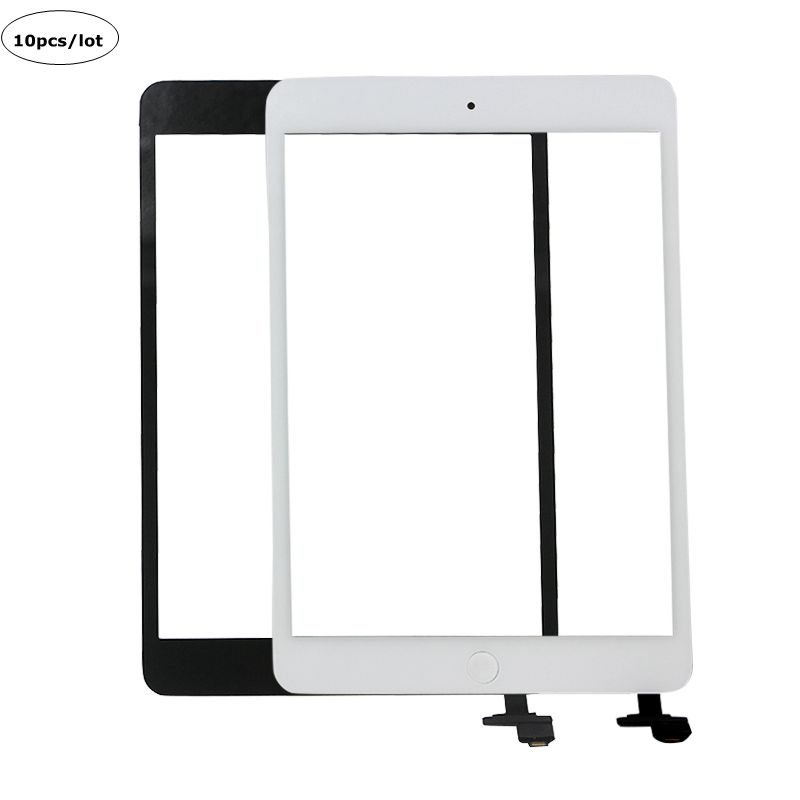 10pcs DHL Tablet Touch Panel Replacement for iPad Mini 1 2 Touch Screen Sensor Front Glass Lens Digitizer IC Connector Home FLEX(China (Mainland))