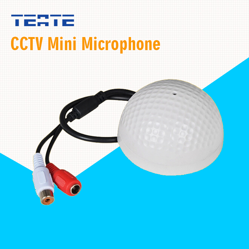 TEATE Slim Microphone voice sound pick up device Surveillance Mini Audio MIC Wide Range for Security Camera DVR System TE-G06CAB(China (Mainland))