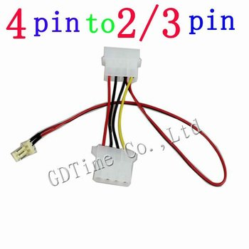 100PCS 12V 5V Computer 4Pin Male Female To 2pin 3pin Male PC CPU VGA Fan Power Cable Wire