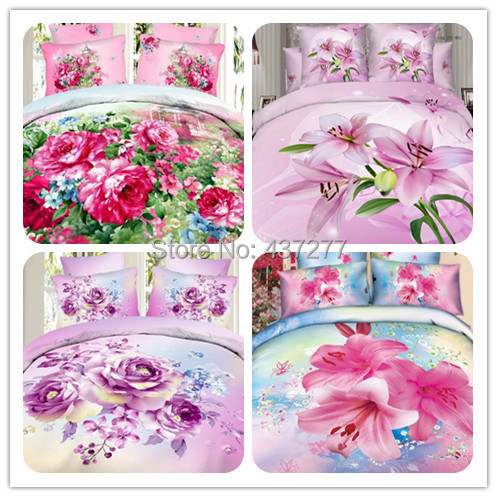 4pc Lady/ Girls Bohemian/Boho cotton fabric queen size bedding duvet cover set with bed sheet bedclothes - Home textile decors