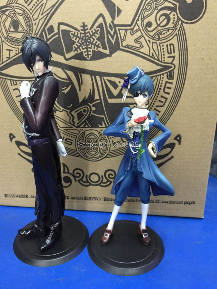 Anime Black Butler Sebastian Michaelis Phantomhive Figure PVC Action Model Children Toy box 2pcs/set - Dragon all Store store