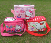 FREE shipping Special offer new hello Kitty insulated lunch bag dual-use, Cute kids lunch bag(China (Mainland))