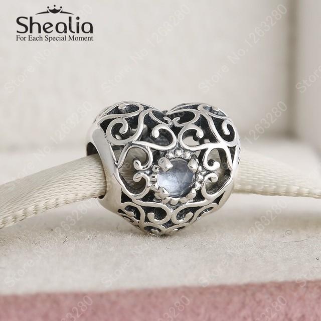 Марта камень синяя вода стерлингового серебра 925 ажурные в форме сердца подвески ювелирных украшений женщины Bracelets DIY аксессуары BD300