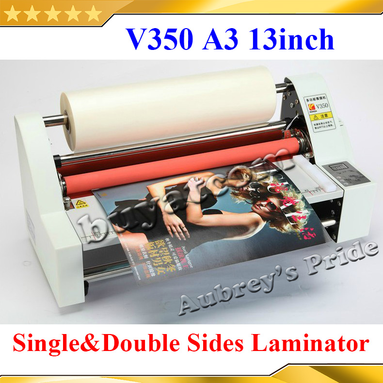 "A3 13"" 350MM High Speed Thermal Hot Cold Laminating Machine Mounting Roll Laminator Bopp Film(China (Mainland))"