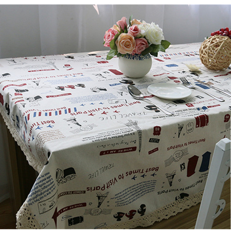 Cotton Rectangular Round Table Cloth Lace Personalized Pattern Table Decor tablecloth Mat Cover Party Hotel Korean Style(China (Mainland))