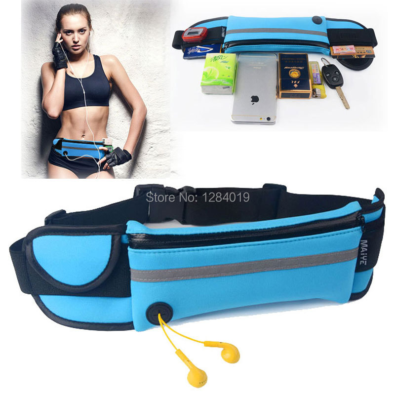 Outdoor Sports Waist Packs Bags for Asus Zenfone 3 Deluxe ZS570KL case Running Sport Waistband wallet Phone case Travel Belt Bag(China (Mainland))
