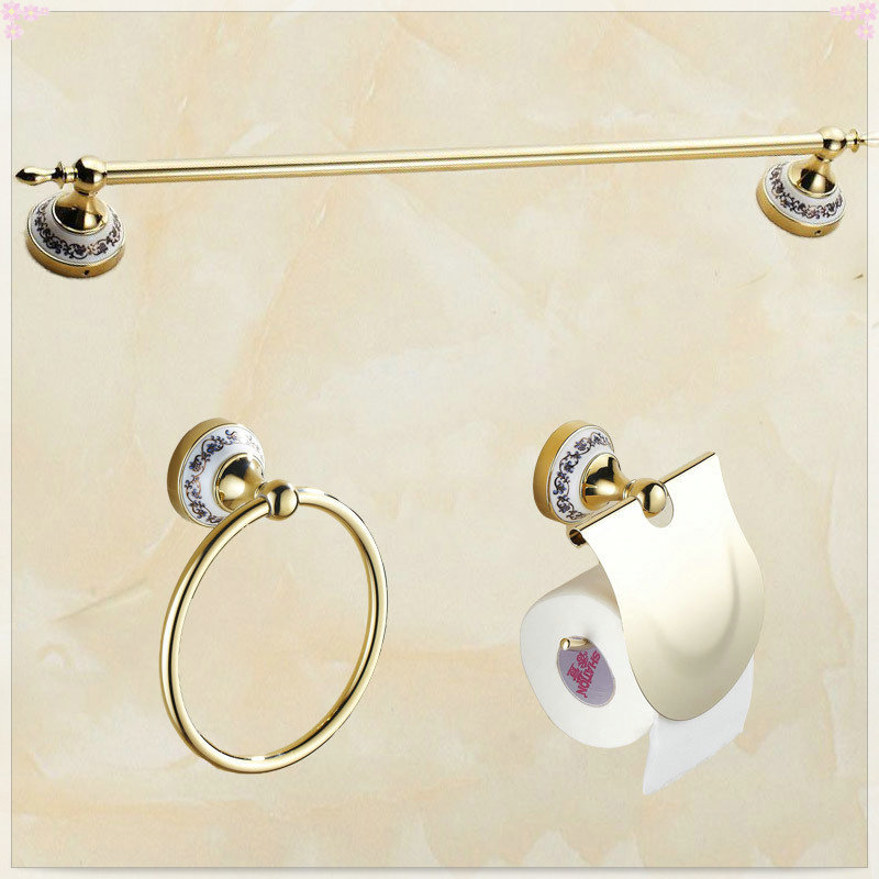 2015 Bathroom single Towel Bar towel Ring Toilet Paper Holder bathroom accessories bath hardware accessories(China (Mainland))