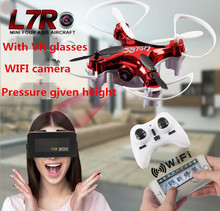 LidiRC L7R Mini Drone with VR Glasses 720P FPV Camera Real-time WiFi RC Quadcopter Drone