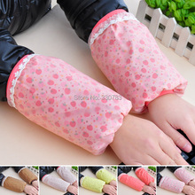 Korean double floral lace short paragraph waterproof protective sleeve cuff long-sleeved paternity office housework(China (Mainland))