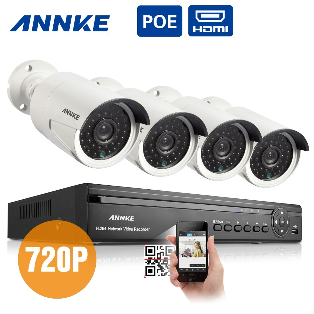ANNKE 4CH HDMI NVR Network Video Record 720P HD Home Security Camera POE System(China (Mainland))