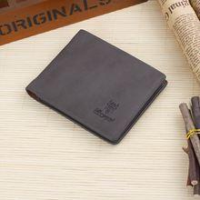 NEW Men Wallets Genuine Leather Vintage Purses High Quality Carteira Money Bag Credit Card Holders Dollar