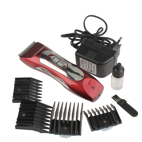 Pro Pet Clipper Trimmer Grooming Shaver Rechargeable Electric Razor Set Red BS88(China (Mainland))