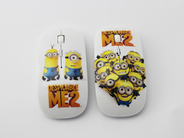 Newest Arrival Despicable Me 2 Mouse with DPI 1200 3D Mini Mice 2.4G USB Receiver Wireless Optical Mice For Computer Accessories(China (Mainland))